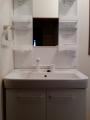 洗面化粧台・止水栓取替工事 神奈川県大和市 PTVN755S-MPTX1751YF