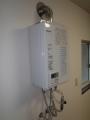 給湯器取替(排気筒脱着・位置調整)ガス配管取替 東京都町田市 RUX-V1615SWFA-E