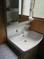 洗面化粧台取替工事 北海道札幌市中央区 LSAB-71A-LRCM-0756HW-W