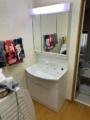 洗面化粧台取替工事 東京都板橋区 GQM75KSCW-set2
