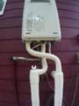 ガス給湯器取替工事 山梨県北杜市 RUX-A2016W-E-set-LPG