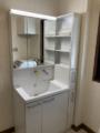 洗面化粧台取替工事 和歌山県和歌山市 LDSWB075CJGEN1-W